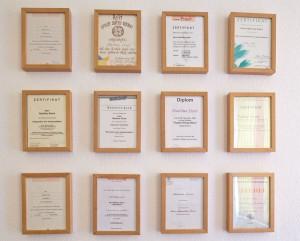 Naturheilpraxis Eisert Zertifikate